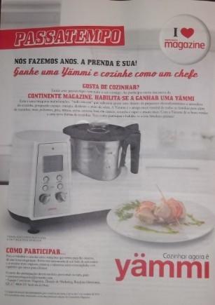 Ganhe 1 Yammi, Passatempo Continente Magazine 5 para oferecer, até 31 outubro