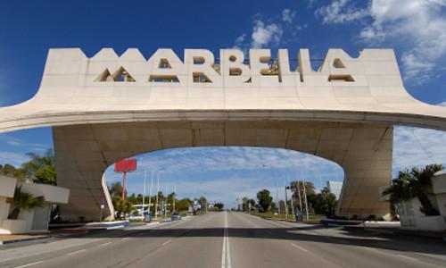Entrada na cidade de Marbella