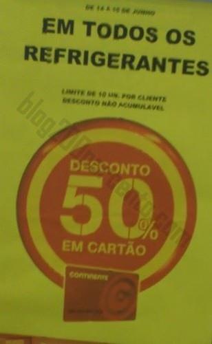 50% de desconto CONTINENTE dias 14 e 15 junho - Refrigerantes - Foto