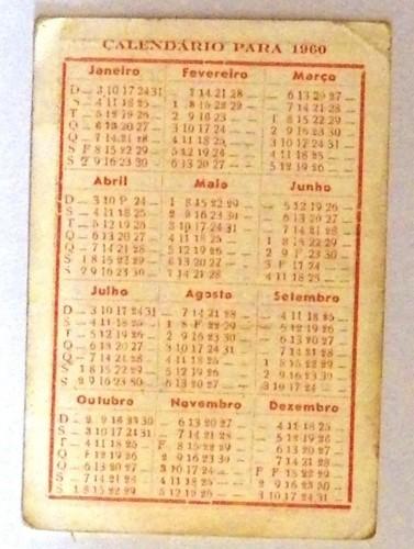 Calendario 1960.Calendario De 1960 De Joaquim L Marques Agueda Blog De