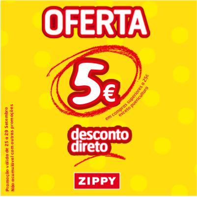 desconto 5€ zippy