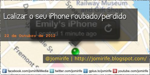 Blog psot: App para localizar o seu iPhone/roubado