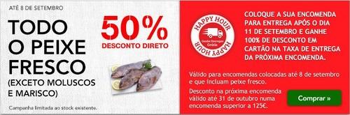 50% Direto em Peixe Fresco