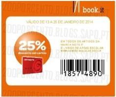 Acumulação 25% + 20% de desconto | BOOK.IT | de 13 a 26 janeiro