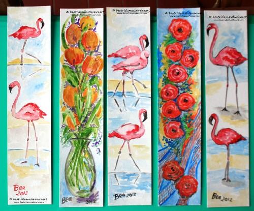 Marcadores de LIvros: Temas animais e flores