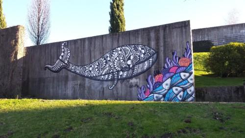 Grafiti baleia fafe
