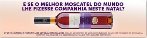 Oferta de Moscatel   CONTINENTE   aos maiores compradores