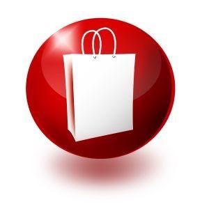 Imagem de um botão com saco de compras. Fonte: http://www.sxc.hu/photo/1136390.jpg