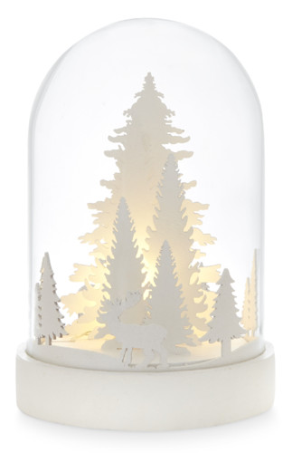christmas scene bell jar decoration white,, €8 $