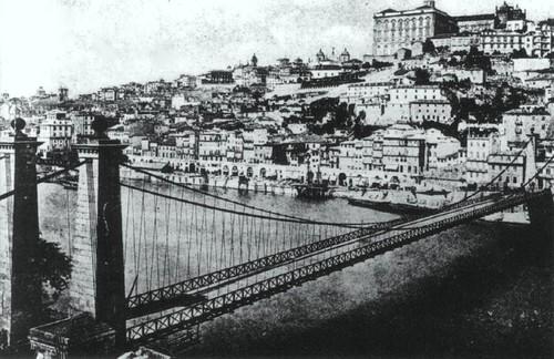 Ponte Pênsil - Cidade do Porto antes da construcção da