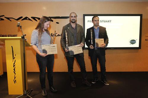 Os vencedores: Susa Monteiro; André Carrilho e Luís Veloso (foto ASF)