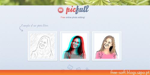 picfull - photo effects - adicionar efeitos a fotografias sépia cartoon desenho