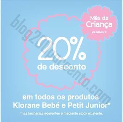 20% de desconto Klorane junho
