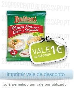 Acumulação 50% + Vale | PINGO DOCE | Buitoni ( Crédito de 0,01€ ), de 3 a 9 dezembro,