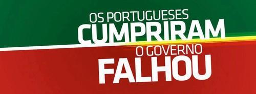 Os portugueses cumpriram, o governo falhou