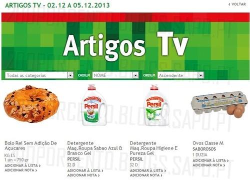 Artigos TV | JUMBO | de 2 a 5 dezembro