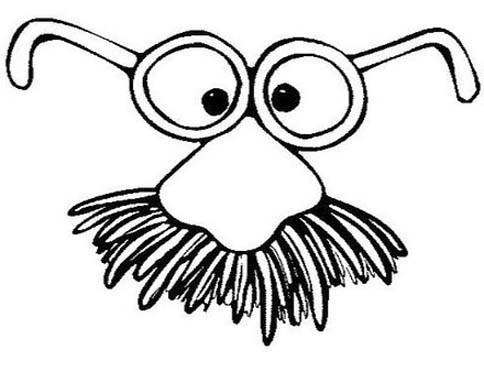Paginas Para Colorir Para Criancas Oculos E Mascara De Bigode