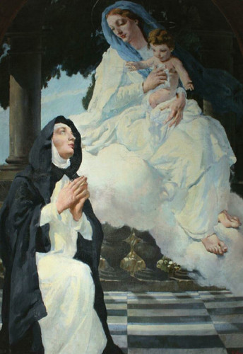 Mary appearing to St Bridget of Sweden.jpg