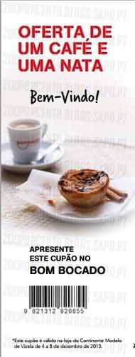 Abertura | CONTINENTE | Vizela, Oferta de café e pastel nata
