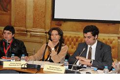 Os deputados Emília Santos (PSD); Michael Seufert (CDS-PP)