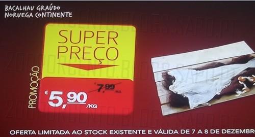 Super Preço | CONTINENTE | Bacalhau Graudo Noruega, até 8 dezembro