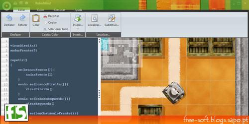 Programação lógica grátis - Robomind