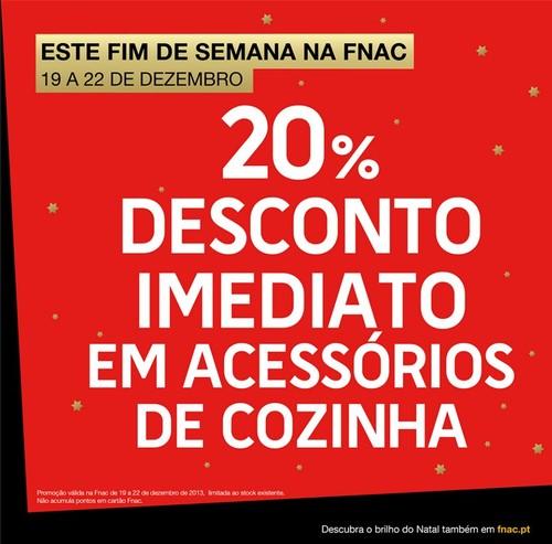 20% desconto | FNAC | até 22 dezembro