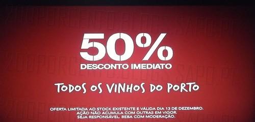 Acumulação 50% imediato + vale | CONTINENTE | dia 13 dezembro, sexta-feira