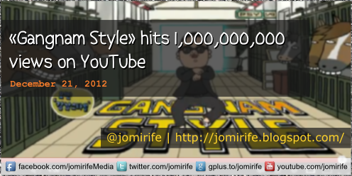 Blog Post: Gangnam Style hits a bilion views