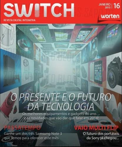 Nova revista | SWITCH | da worten - Janeiro 2014
