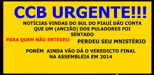 CCB/URGENTE
