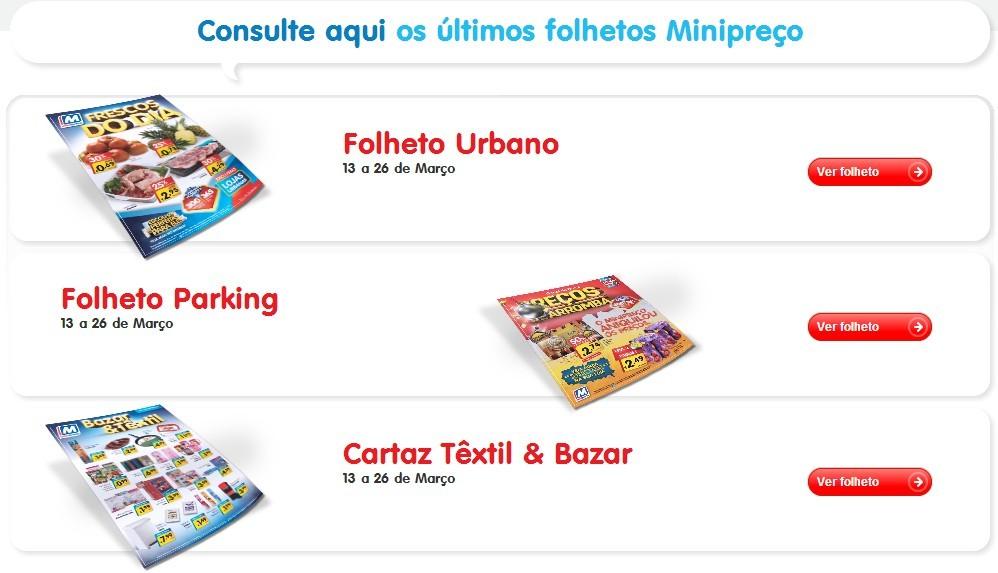 Folhetos | MINI PREÇO | Online - de 13 a 26 março