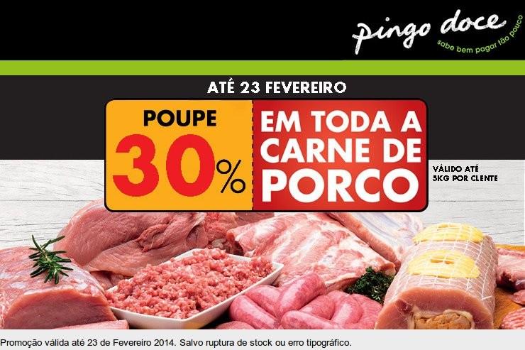 30% de desconto imediato | PINGO DOCE | Carne de Porco