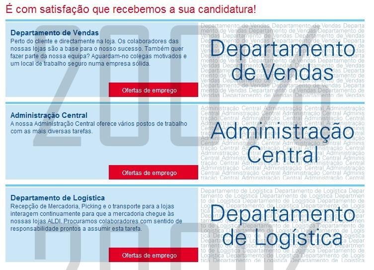 Ofertas de emprego | ALDI | várias