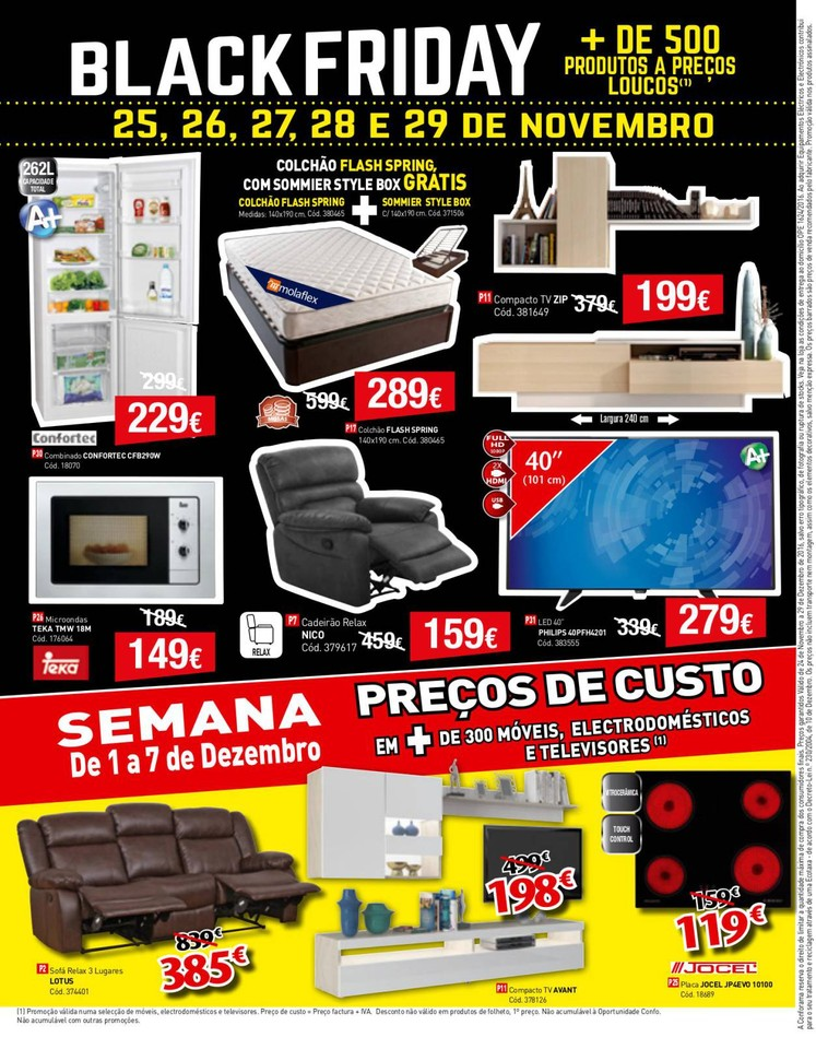 Promo es conforama antevis o black friday 25 a 29 for Conforama black friday