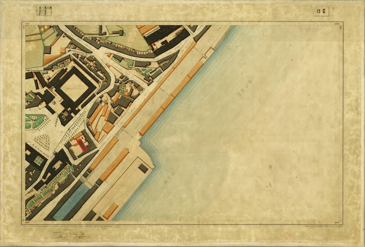 Planta Topográfica de Lisboa 13 G, 1909, de Alber