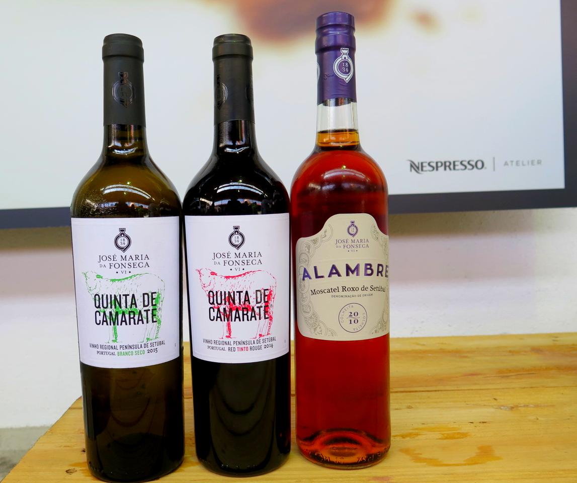 Ricardo Costa no Atelier Nespresso & 3 vinhos: Quinta de Camarate Branco Seco 2015 / Quinta de Camarate Tinto 2014 / Alambre Moscatel Roxo de Setúbal 2010