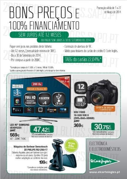 Novo Folheto | EL CORTE INGLÉS | tecnologia até 27 março