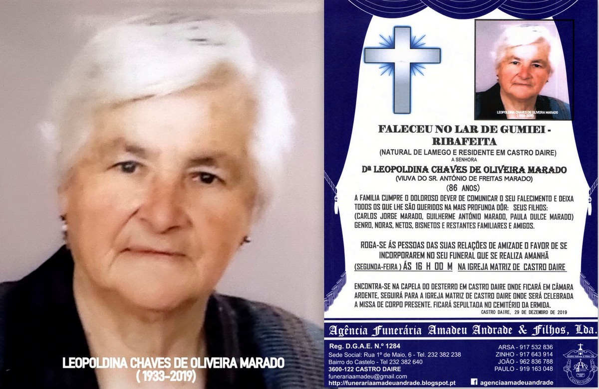 FOTO RIP DE LEOPOLDINA CHAVES OLIVEIRA MARADO-1933