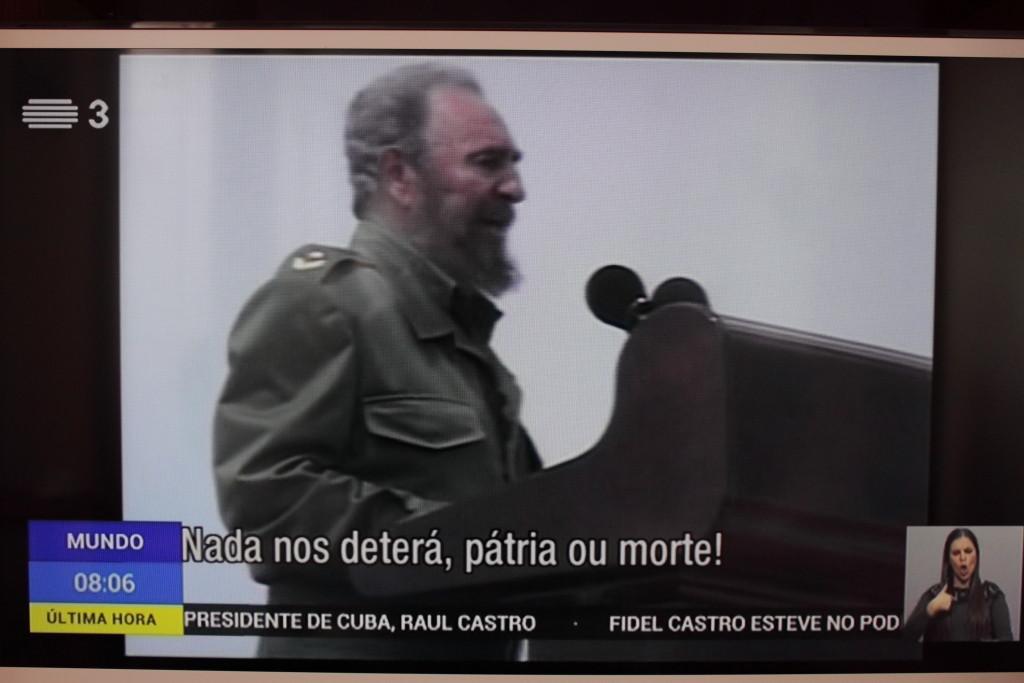 Fidel de Castro, R.T.P. 3, 26/11/2016