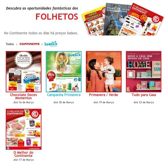 Nova página | CONTINENTE |  - Folhetos