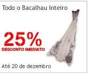 25% de desconto imediato | CONTINENTE | Bacalhau