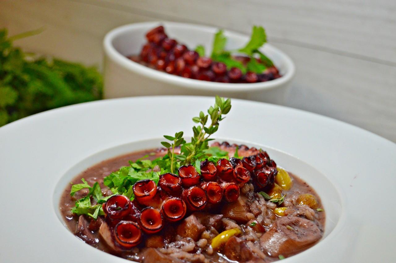 arroz de polvo com castanhas e vinho tinto.JPG