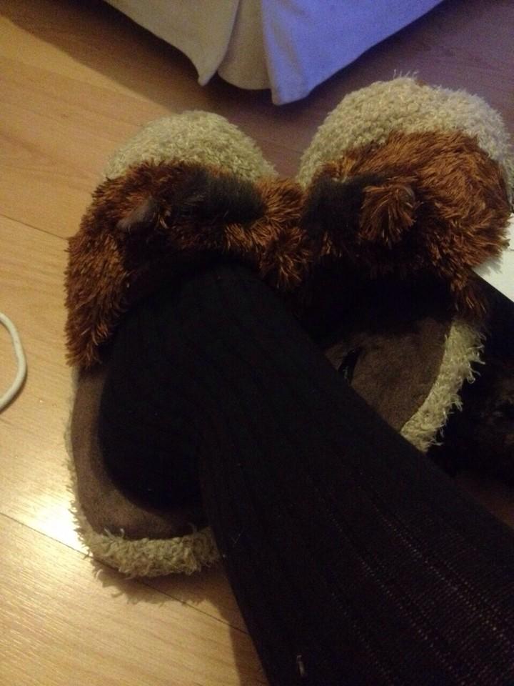 pés quentinhos