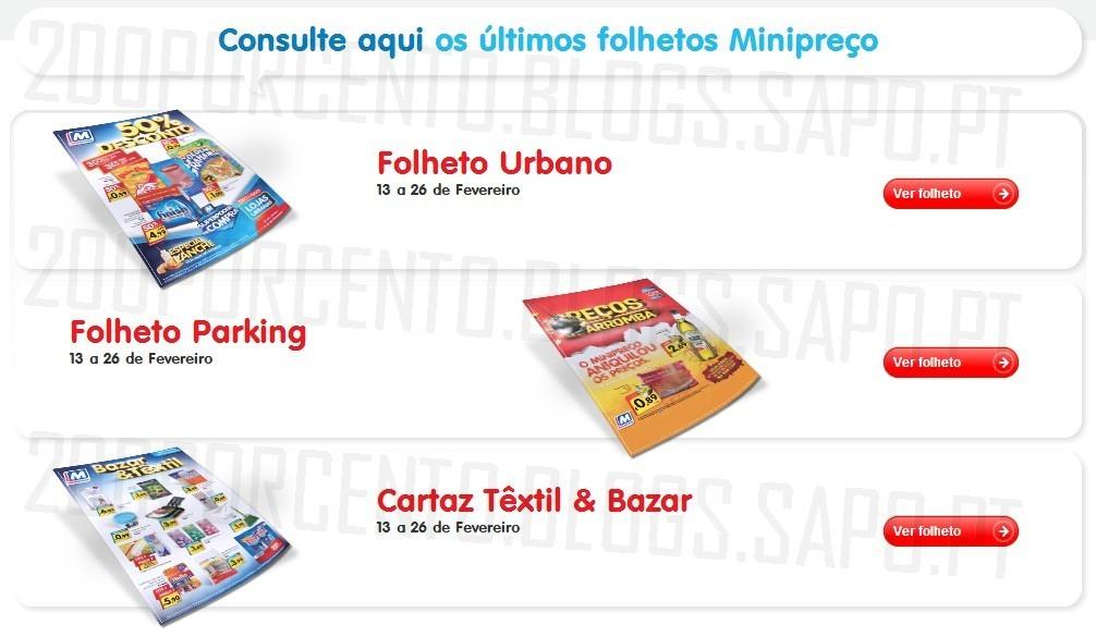 Novos Folhetos | MINIPREÇO | Online, de 13 a 26 fevereiro