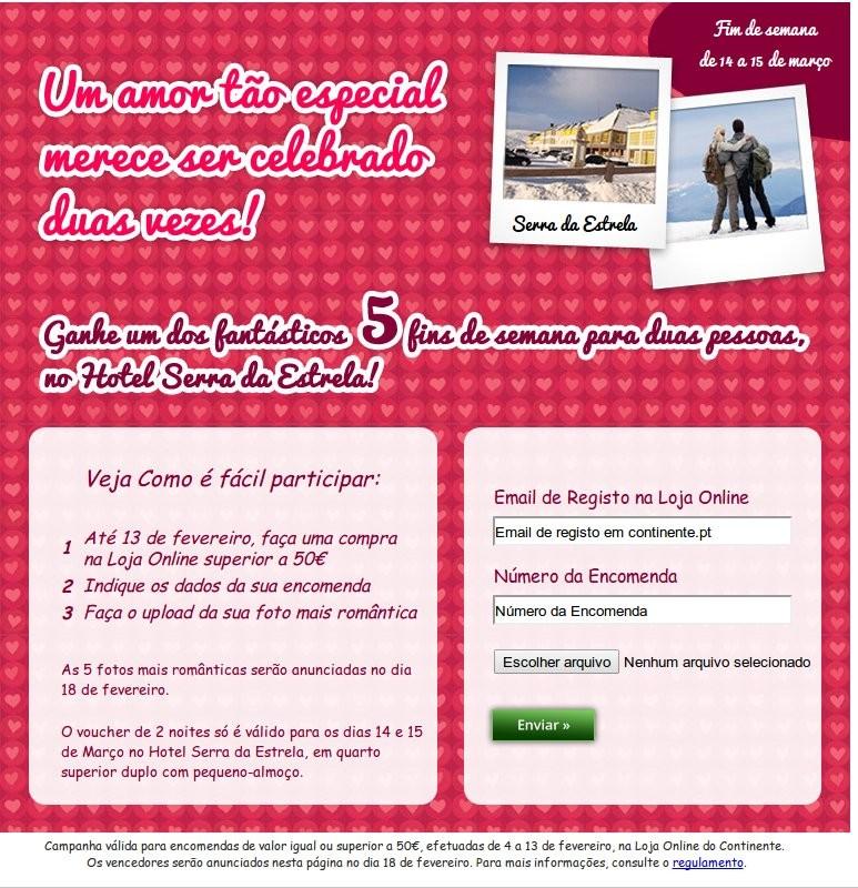 Passatempo | CONTINENTE | Dia dos Namorados até 13 fevereiro