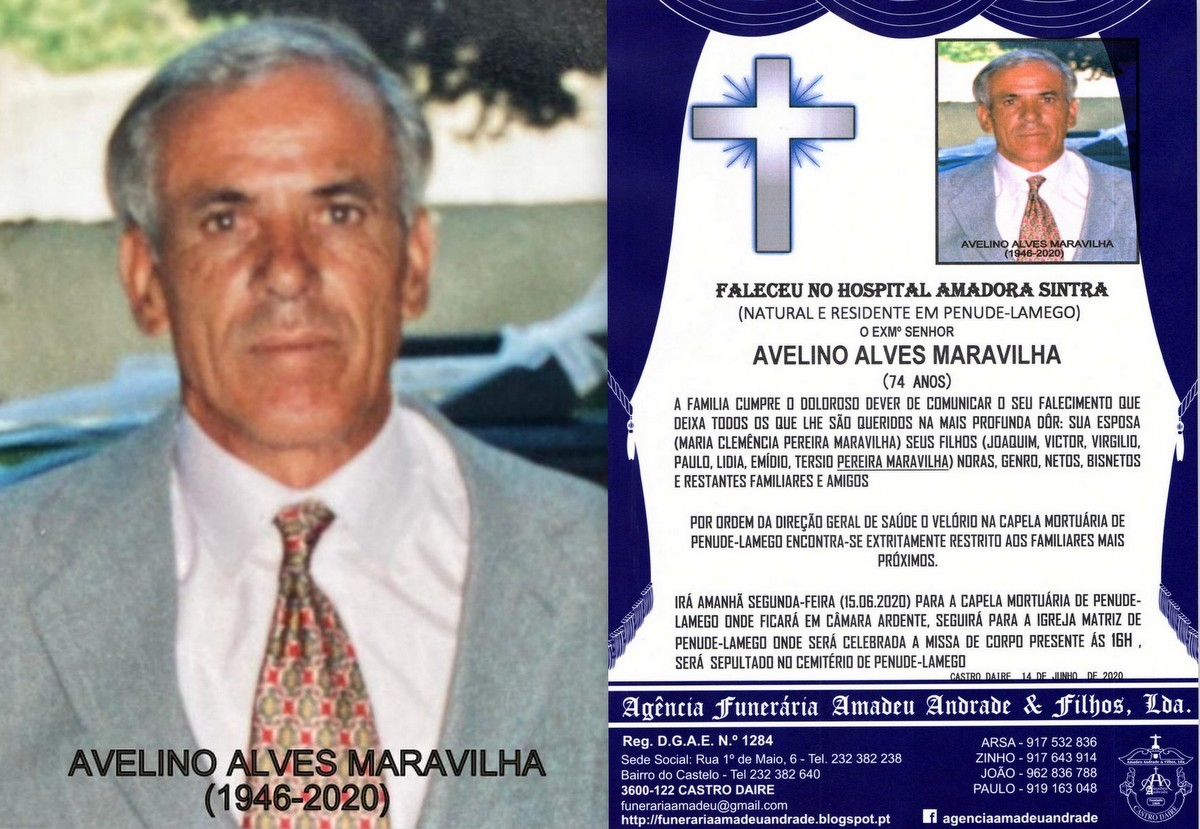 FOTO RIP DE AVELINO ALVES MARAVILHA-74 ANOS (PENUD