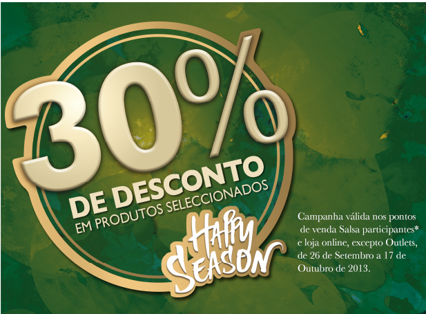 30% Na Salsa Happy Season