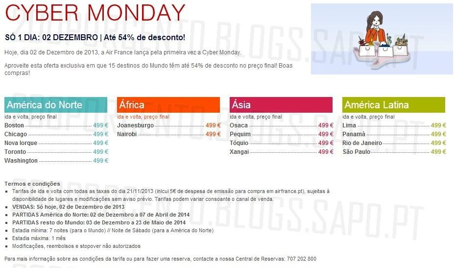 Cyber Monday | AIR FRANCE | 2 dezembro
