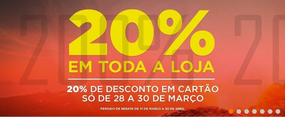 20% de desconto | SPORT ZONE | de 28 a 30 março